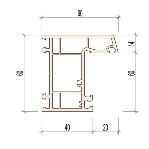 plastic extrusion mould for window profile