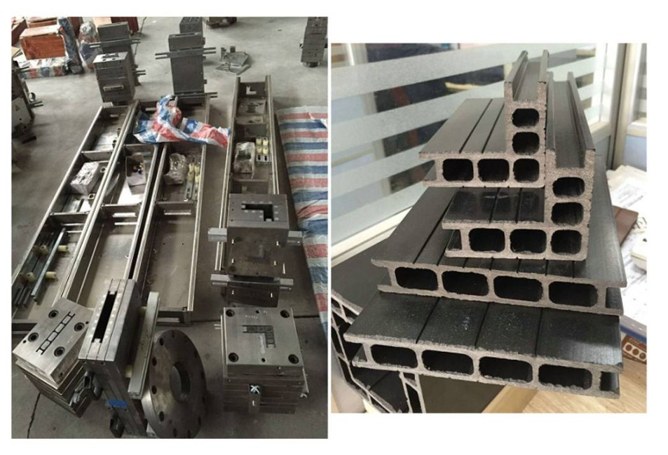 WPC extrusion mould debugging