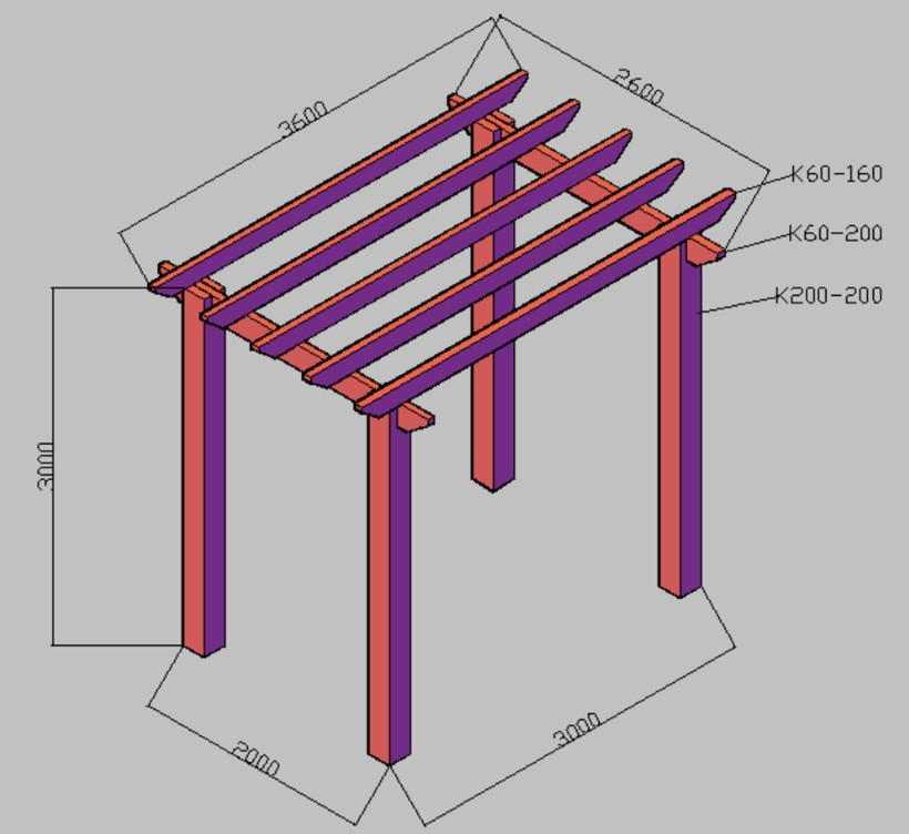 Popular WPC Pergola Drawing Recommend