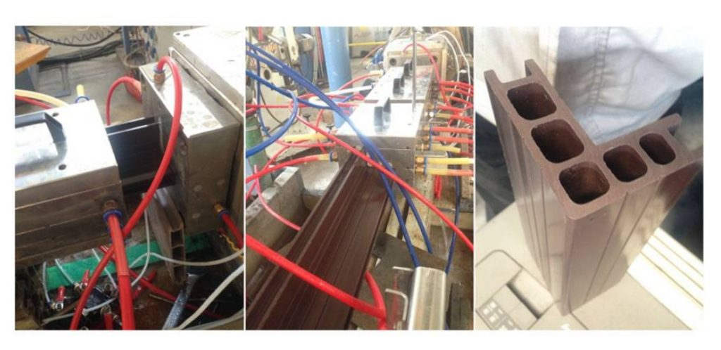 WPC profile extrusion mould debugging