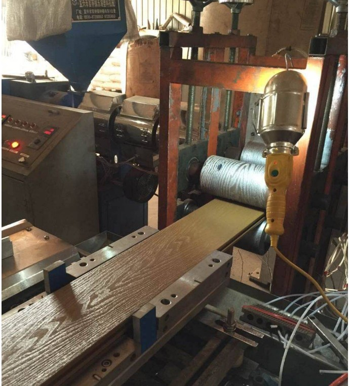 the production of embossing WPC profile