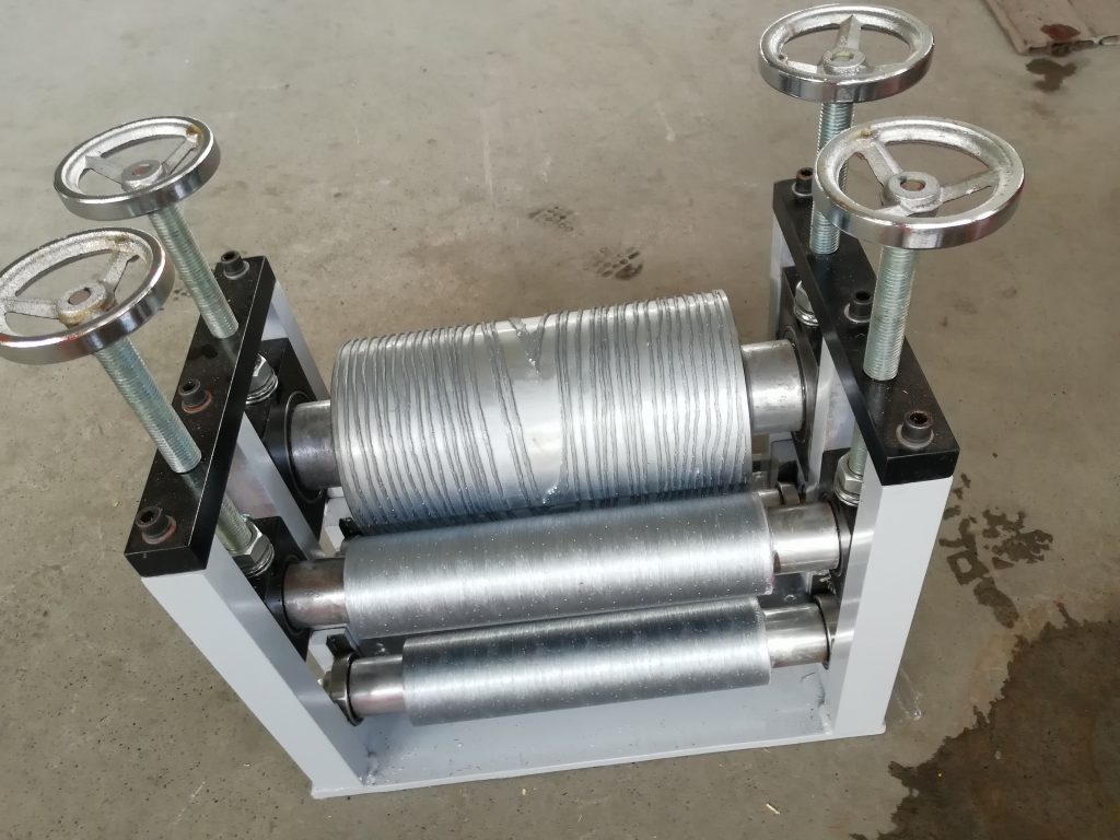 on line embossing devise for WPC decking