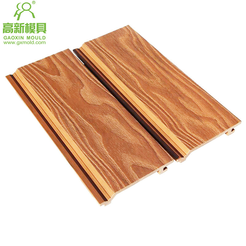 wood grain embossing WPC cladding